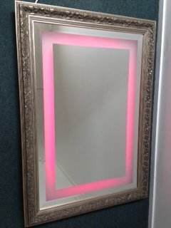 LED Feature Frame Mirror 750 x 1000 Multi with Remote
